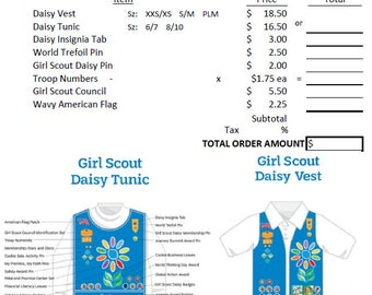 Girl scout forms | Etsy