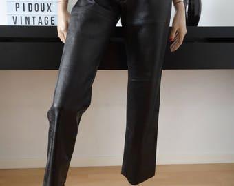 A.P.C. S black leather pants