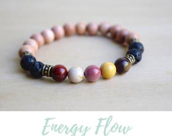 Mookaite Bracelet / mom gift from son, mother in law gift, coworker gift, intuition bracelet, treat yo self, bestfriend gifts