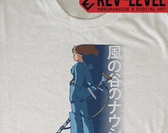 Nausicaa of the Valley of the Wind Poster - Nausicaä 風の谷のナウシカ Studio Ghibli T-Shirt by Rev-Level
