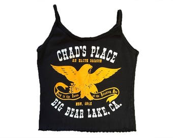 Vintage Chad's Place 'Work Is The Curse Of The Drinking Man' Saloon Tank Top