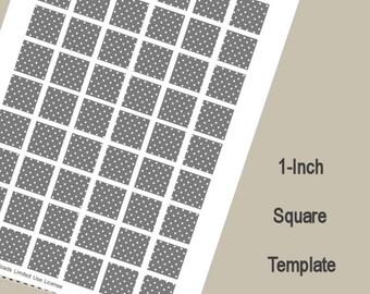 1-Inch Square Template, Digital Download