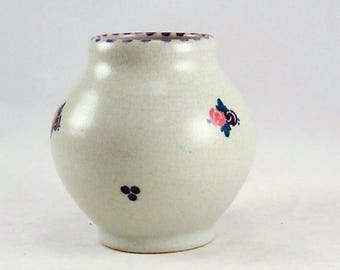 Poole Pottery Vase Jar - Carter Stabler Adams - F E Pattern Sprig - 352 Shape - Artist Signed -Circa 1922 to 1924 - Red Earthenware Clay