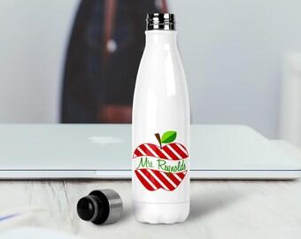 Personalized Water Bottle, Custom Teacher Gift, Teacher Water Bottle, Stainless Steel Water Bottle, Insulated Water Bottle, Monogram Tumbler