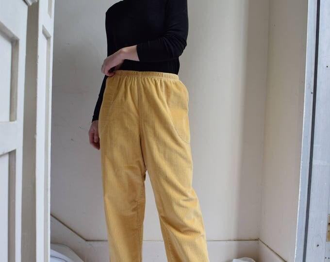 High Waist Corduroy Pants