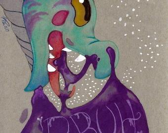The Bruh Dragon Original Illustration