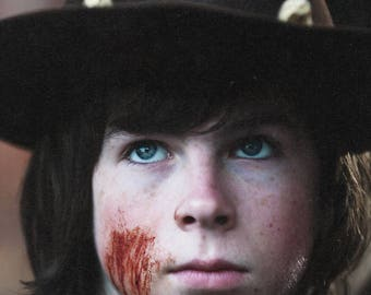 The Walking Dead Carl Grimes  Chandler Riggs  8.5x11 Photo #1115-3