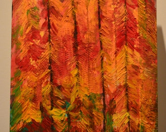 Mesmerized: Beeswax, dry pigments oil painting on a gallery style wooden panel ready for display