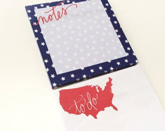 SALE USA Sticky Note Pads Set • Target Dollar Spot • Target One Spot • Post it • Sticky note pads • America, USA, To Do, Notes