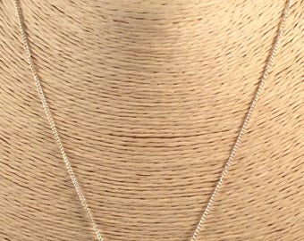 "Amethyst and Sterling Silver Necklace 16"" Fine Chain Gemstone Necklace Bezel Set Amethyst Februarys Birthstone Valentines Gift"