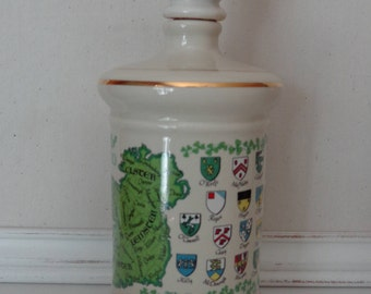 Vintage 1969 Stitzel Weller Distillery Decanter, Irish Decanter, The Emerald Isle Ireland Decanter, Old Fitzgerald Collector's Gallery, 1969