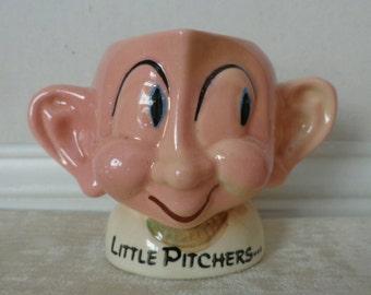 """Vintage Creamer, """"Little Pitchers"""" Creamer, whimsical creamer"""