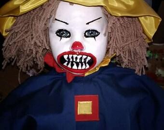 Huge 32 inch Horrifying  clown doll