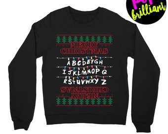 Stranger things. stranger thing christmas sweater. stranger things christmas. stranger things sweater. stranger thing sweatshirt.upside down