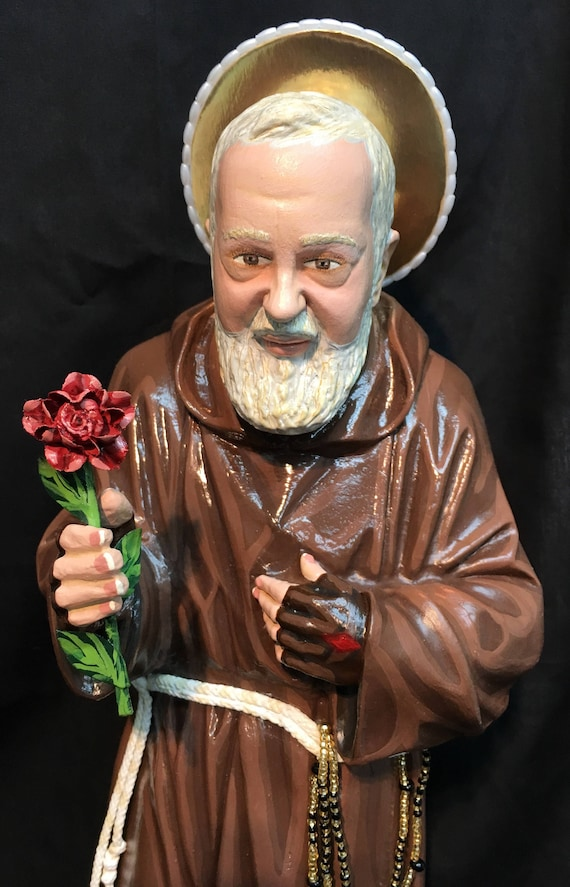 "St. Padre Pio 20"" Patron Saint of Stress Relief and January Blues"