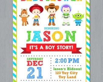 Toy Story Baby Shower Invitation, Toy Story Baby Shower Invite card, Toy Story baby invitation, Toy Story Baby Invite