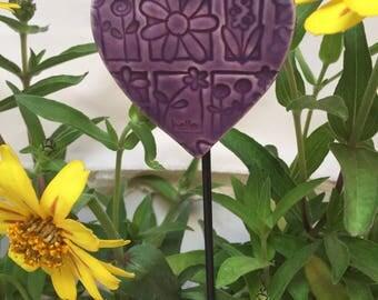 Purple Heart  Garden Stake
