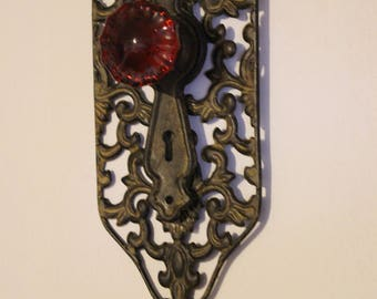 Vintage Style Ornate Door Knob Coat Wall Hook Primitive Rustic Farmhouse Chic