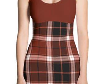 Black and Red Plaid - Mini Dresses