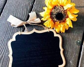 Hanging Chalkboard Sign, Wedding Chalkboard Sign, Personalized Wedding Chair Signs, Wedding Chair Decor, Wedding Signs for Ring Bearer