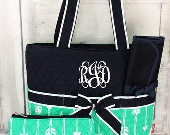 Mint Arrow Diaper Bag
