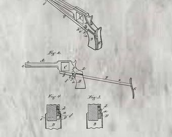 Extension Stock for pistols Patent # 202946 dated April 30, 1878.