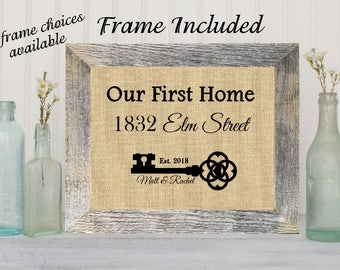 FRAMED Personalized Realtor Closing gift First Home Gift Housewarming Gift Our First Home Gift for clients Gift for Homeowner New Home gifts