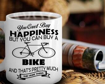 Cycling Mug, Mountain Biking, Bicycling Gift Ideas, Bicycle Lover Gift, Cycling Gifts, Gifts For Cyclists, Bicycle Lover Mug, Bicycle Mug