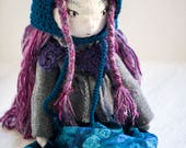 Emily, Handmade Doll, Heirloom Doll, Cloth Doll, Textile Toy