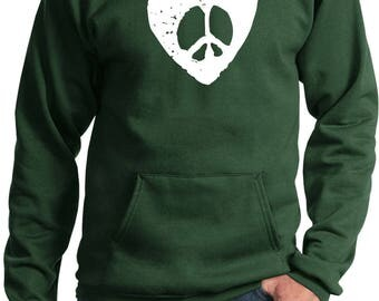 Men's Hippie Heart Peace Hoody HIPPIEHEART-PC90H