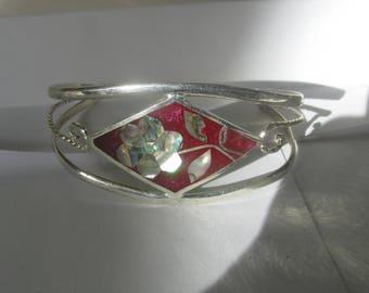 Vintage Abalone Bracelets, Paua Shell Bracelet, Sea Shell Bracelet, Mother Of Pearl Bracelet, Adjustable Beach Cuff, Woman's Birthday Gift
