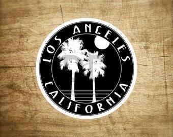 "Los Angeles California Decal Sticker  3"" x 3"""