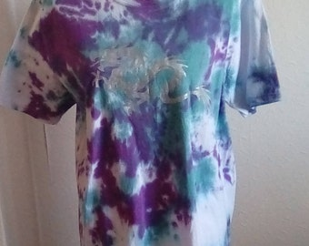 Hippy Tshirt, Tie Dye T-shirt, Dragon Print Clothing, Alternative Life, Dragon Gift, Gifts for Her, Gifts for Him, Hippy Gift