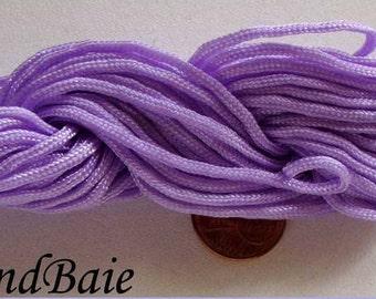 FIL Echeveau 15m nylon tressé 1,5mm MAUVE DIY création bracelet tressage shamballa