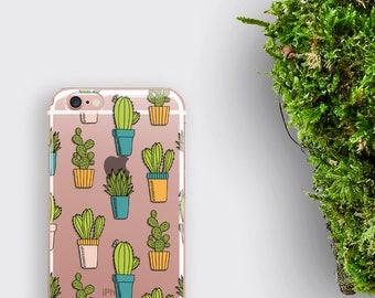Cactus iPhone Case Transparent iPhone 6 Case - Galaxy S8 Case Clear iPhone 6S Case Cacti iPhone 7 Plus Case Succulent Galaxy S8 Case LG G5