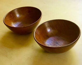 Upsala Slojd teak bowls made in Sweden in the early 1960's***FREE SHIPPING***
