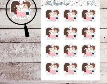 Date Night Character Planner Sticker for all Planners