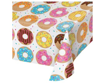 Donut Tablecloth - Donut Birthday - Donut Party - Sprinkles Birthday - Donut Baby Shower - Cupcake Party - Table - Donuts - Party Supplies