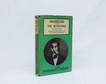 Vintage Book Manzoni the Betrothed - Everyman's Library No. 999 - Good Condition