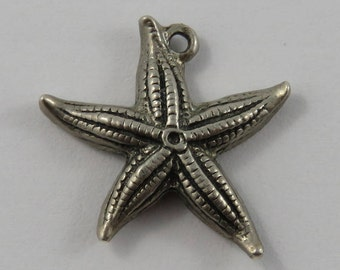 Antigua Star Fish Silver Vintage Charm For Bracelet