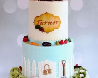 Full Set: Beatrix Potter Peter Rabbit Cake Topper Set (Decoration only, cake not included!)