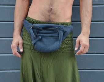 Raw Cotton Fanny Pack with adjustable belt. Festival Bum Bag, Utility Bag, Money Belt, Money Bag, Shoulder Bag, Hip Bag, Boho Bag, Christmas
