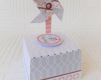 Box dragees windmill for wedding, communion, wedding, birthday with