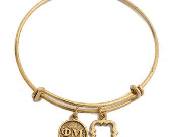 Phi Mu Expandable Bracelet