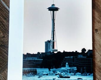 5x7 Seattle Space Needle Photo Greeting Card
