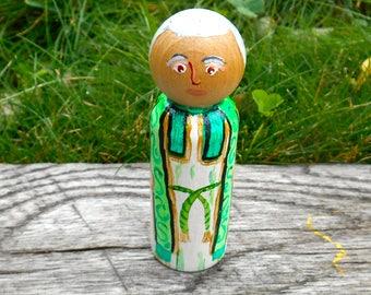 St. John Vianney, Wooden Peg Patron Saint, Cure of Ars, Confirmation Gift, Miniature Saint, Catholic Priest Gift, Patron of Priests