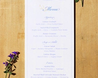 Wedding Reception Menu with Wax Seals & Ribbon