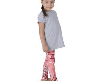Urban Jungle Pink Kid's leggings
