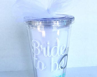 Customized bride to be tumbler, Bridal shower gift, Engagemenet gift, Bride to be tumbler,Future Mrs Gift,Valentines Day Gift, Gift for Vday