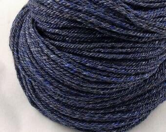 Neptune - Worsted weight hand spun yarn - 80/20 Merino/Mulberry Silk